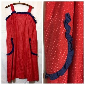 Vintage Polka a Dot MuMu Tank Dress Red Blue